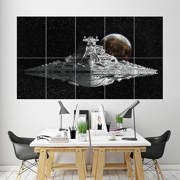 star wars destroyer wand kunstdruck riesenposter. Black Bedroom Furniture Sets. Home Design Ideas