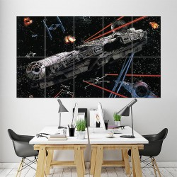 Millenium Falcon Star Wars Block Giant Wall Art Poster (P-1607)