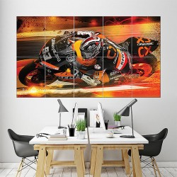 Marc Marquez Motorcycle Racing Block Giant Wall Art Poster (P-1608)