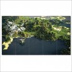 โปสเตอร์ ขนาดใหญ่ Minecraft Landscape
