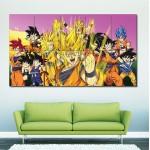 Dragon Ball Z Goku Characters Block Giant Wall Art Poster