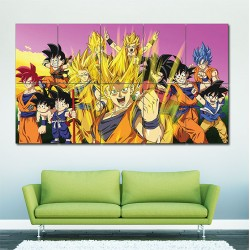 Dragon Ball Z Goku Characters Block Giant Wall Art Poster (P-1612)