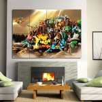 Pokemon Art Wand-Kunstdruck Riesenposter