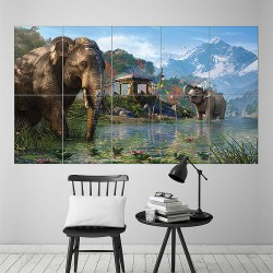 Far Cry 4 Elephants Block Giant Wall Art Poster (P-1614)
