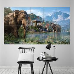 โปสเตอร์ ขนาดใหญ่ เกมส์  Far Cry 4 Elephants  (P-1614)