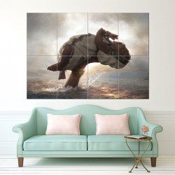 Bahubali Block Giant Wall Art Poster (P-1618)