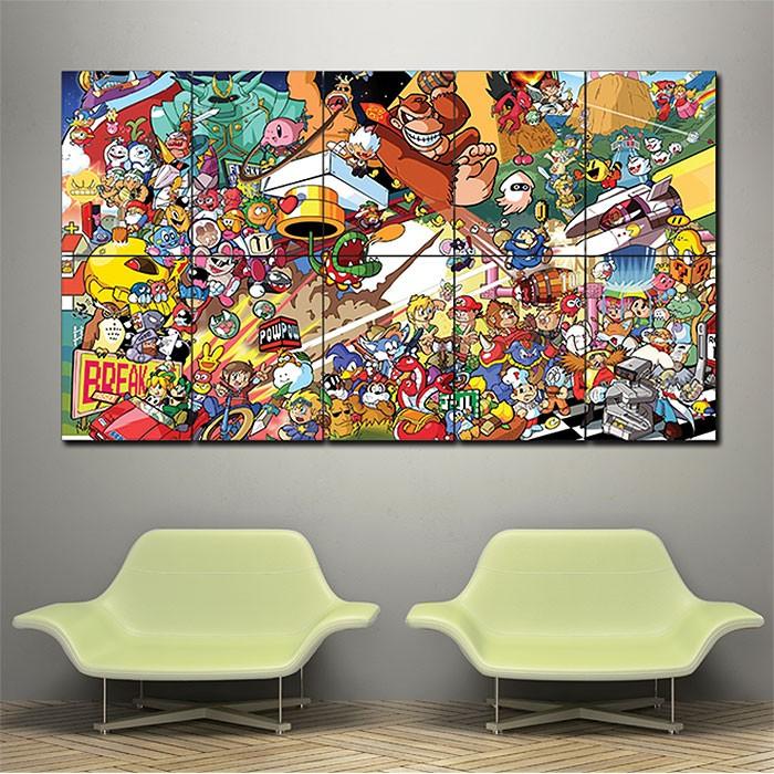 Nintendo Wall Art super smash bros all star romstation block giant wall art poster