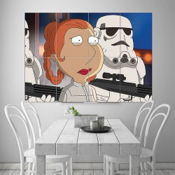 Star Wars - Family Guy Block Giant Wall Art Poster (P-1629)