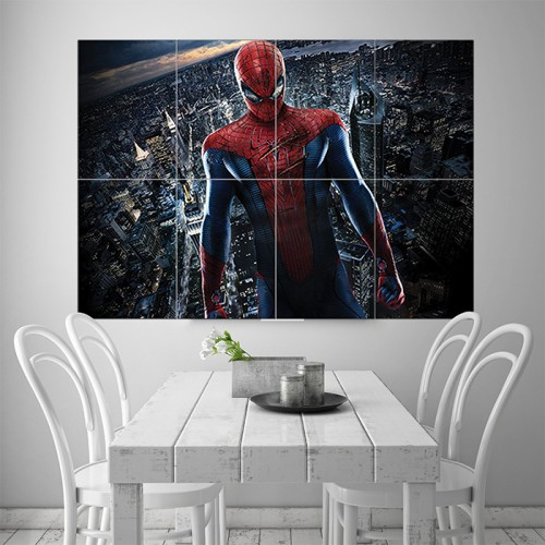 Amazing Spiderman Block Giant Wall Art Poster