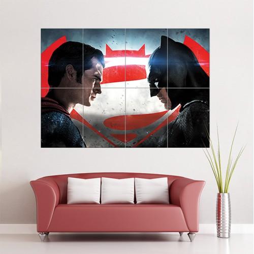 โปสเตอร์ ขนาดใหญ่ Batman Vs Superman Dawn Of Justice New