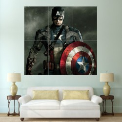 Captain America Block Giant Wall Art Poster (P-1635)