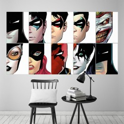Batman Characters Block Giant Wall Art Poster (P-1637)
