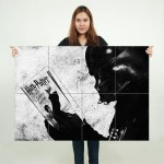 Darth Vader reading Harry Potter Block Giant Wall Art Poster