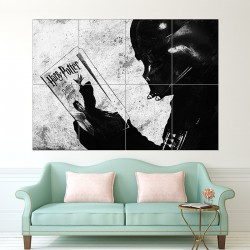 Darth Vader reading Harry Potter Block Giant Wall Art Poster (P-1641)