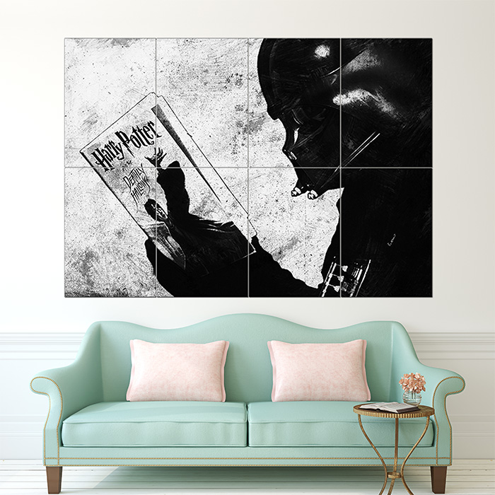 Darth Vader liest Harry Potter Wand-Kunstdruck Riesenposter