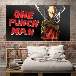 One Punch Man Saitama Anime #3 Block Giant Wall Art Poster (P-1644)