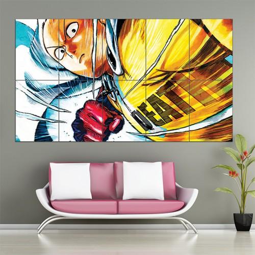 One Punch Man Saitama Anime #4 Block Giant Wall Art Poster