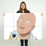 One Punch Man Saitama Anime #8 Block Giant Wall Art Poster