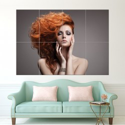Beauty Hairstyle Block Giant Wall Art Poster (P-1649)
