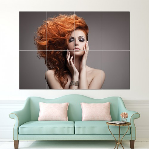 Beauty Hairstyle Block Giant Wall Art Poster
