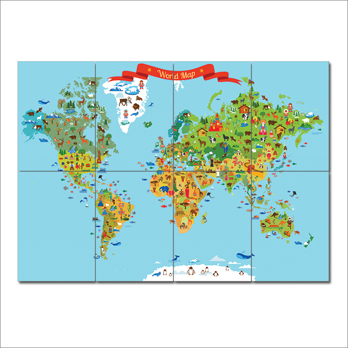 Map for kid block giant wall art poster world map for kid block giant wall art poster gumiabroncs Image collections