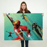โปสเตอร์ ขนาดใหญ่ Civil War Artowork Iron Man  ไอรอนแมน