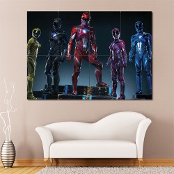 Mighty Morphin Power Rangers Block Giant Wall Art Poster (P-1669)