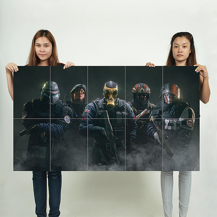 Tom Clancys Rainbow Six Siege Block Giant Wall Art Poster