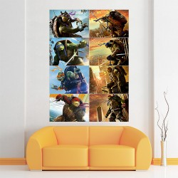 Teenage Mutant Ninja Turtles Characters Block Giant Wall Art Poster (P-1673)