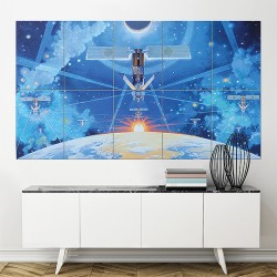 Spirit of Iridium robert mcCall Block Giant Wall Art Poster (P-1674)