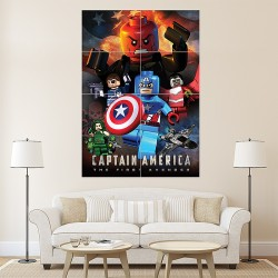 Lego Capitan America Block Giant Wall Art Poster (P-1675)