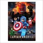 โปสเตอร์ ขนาดใหญ่ เกมส์ Lego Capitan America