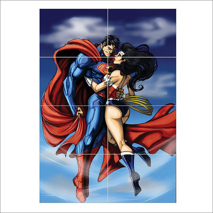 Superman Batman Wonderwoman Giant Wall Art poster Print