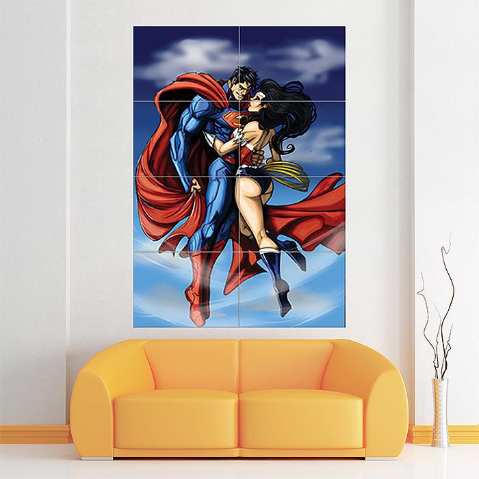 Batman Giant Wall Art Poster Print Wonder Woman Superman
