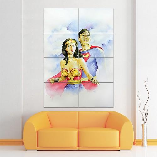 โปสเตอร์ ขนาดใหญ่  Wonder Woman and Superman