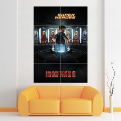 Lego Iron Man 3 #1 Block Giant Wall Art Poster (P-1684)