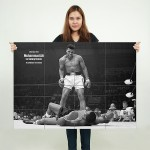 Muhammad Ali vs Sonny liston boxing Block Giant Wall Art Poster