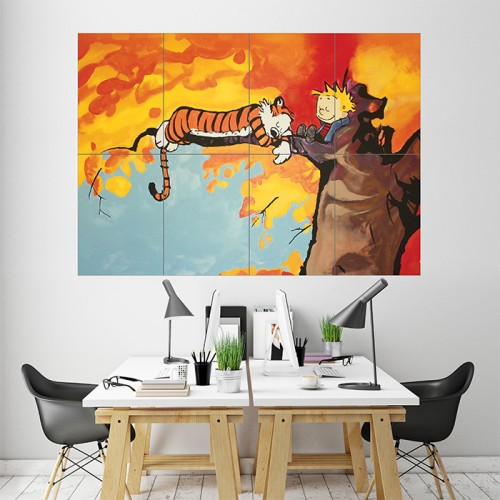Calvin and Hobbes Block Giant Wall Art Poster