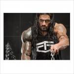 Workout Roman Reigns Wand-Kunstdruck Riesenposter
