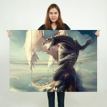 Anime Love Doom Dragon Block Giant Wall Art Poster