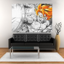 Dragon ball Z Super Saiyan  Block Giant Wall Art Poster (P-1693)