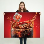 Coca Cola Block Giant Wall Art Poster