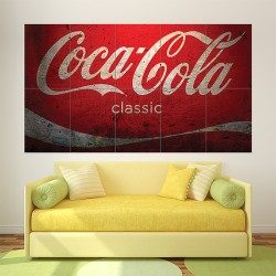 Coca Cola Classic Vintage Block Giant Wall Art Poster (P-1706)