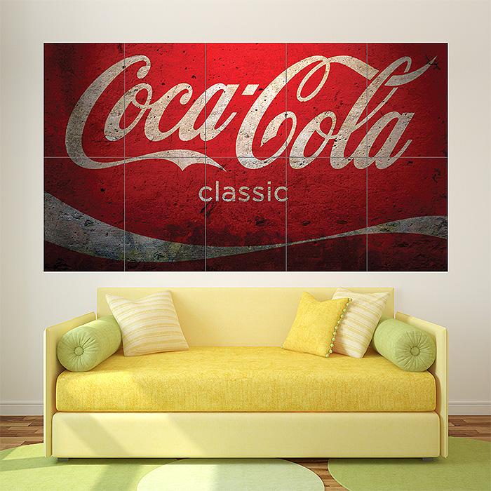 Coca Cola Classic Vintage Block Giant Wall Art Poster