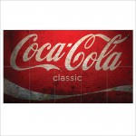 Coca Cola Classic Vintage Block Giant Wall Art Poster