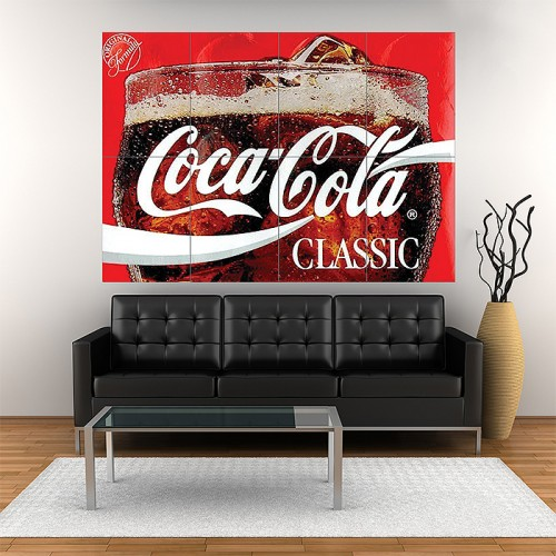 Products Coca Cola Block Giant Wall Art Poster
