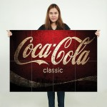Coca Cola Classic Block Giant Wall Art Poster