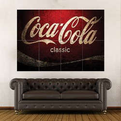 Coca Cola Classic Block Giant Wall Art Poster (P-1708)