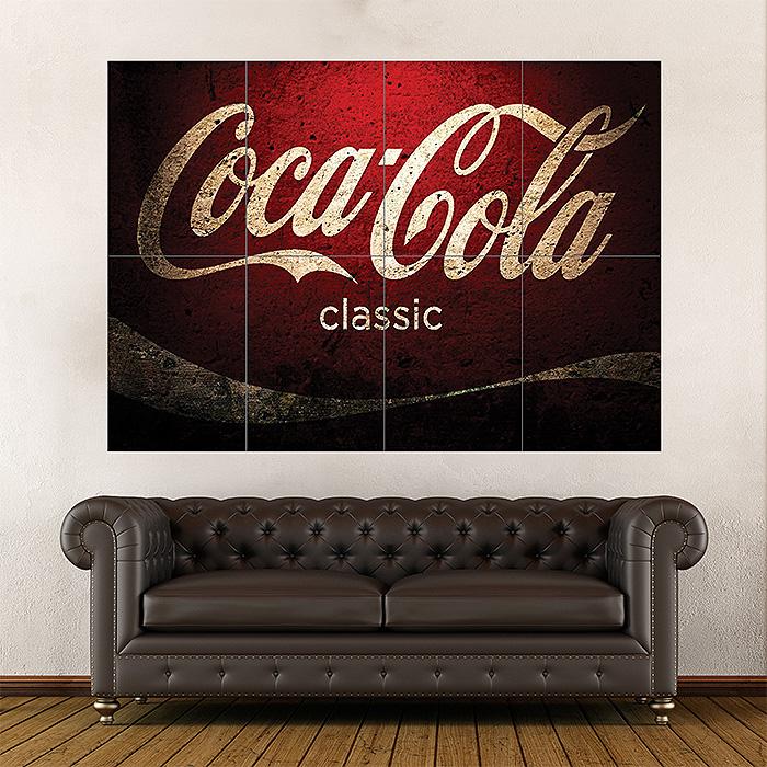 Coca Cola Classic Block Giant Wall Art Poster