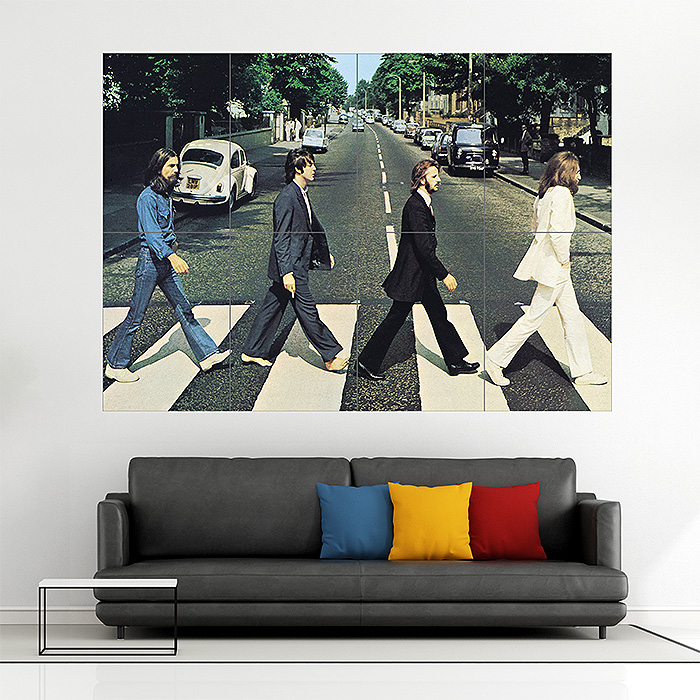 The Beatles Abbey Road Album Cover Block Giant Wall Art Poster